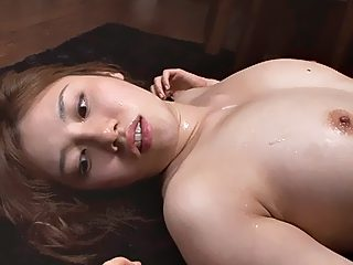 Abused asian fully in cum