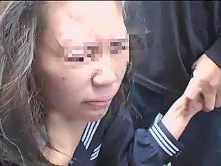 Cum at forehead in asian rape