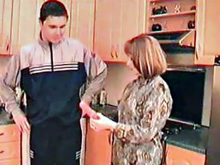 Shameless mother lets her teen son savor her snatch and probe it with dick