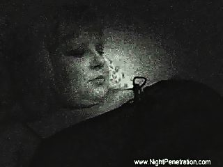 Spy cam in chubby old blonde's bedroom films her getting fucked by her son