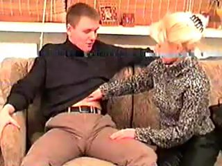 Loving blonde mommy helps her teen son get rid of his unbearable sex hunger