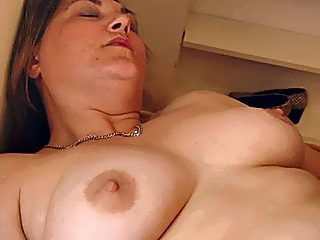 Mom in stockings offers her hairy muff to her sonny