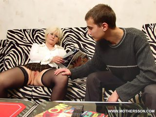Sweet blonde mother got used as a fuck doll by her sonny