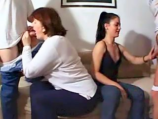 A big and nasty family of four invites you to their sex party filmed on cam