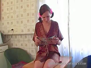 Teen girl with funny pigtails explores the pleasures of lesbian incest sex