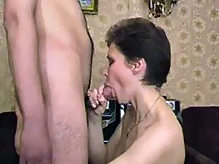 Horny young lad with incredibly thick chode lets his mama savor his pride