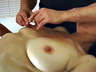 Mommy with big ripe tits switches from dildoing to real hardcore incest sex