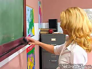 Violet gets fucked in every holes by her teacher