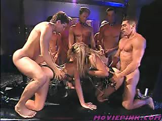 Real wild rough group orgy in a bdsm room
