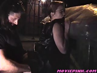 Real amateur girl getting fucked in the street