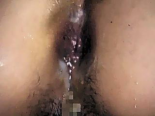 Cum at ass after forced anal