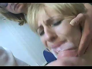 Bisexual rape with cum on girl