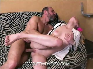 Teenage blonde gets busted dildoing herself and shagged by her eager daddy