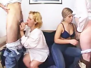 Unleashed foursome incest sex party in its full swing gets exposed on video