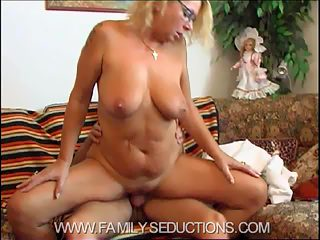 Tattooed mamas got a new sex victim  her son. See them on HQ video!