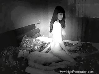 Skinny kink sneaks into his busty older sister's bedroom and shags her raw