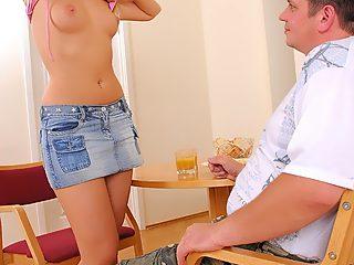 Lucky sex hungry dude bangs his own adorable younger sister senseless