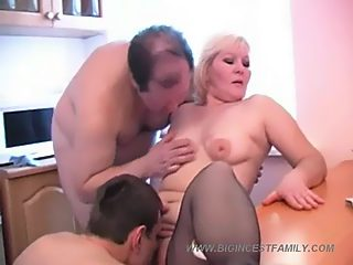 Five horny family members throwing a wild incest sex party in front of cams