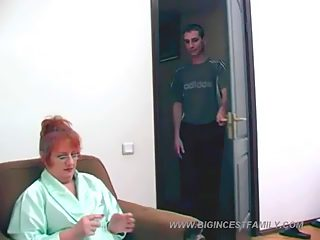 Overweight mature bitch shows the world how much she loves incest fucking
